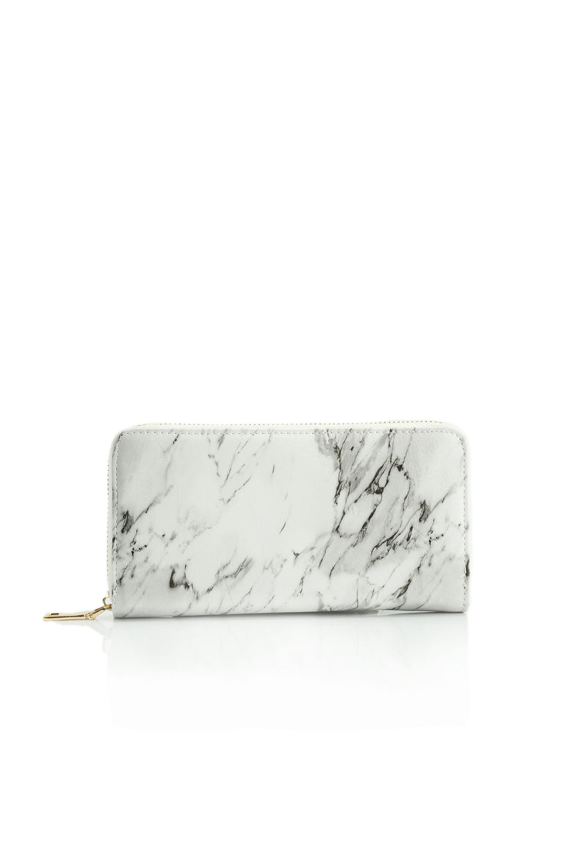 Classic Marble Wallet - White