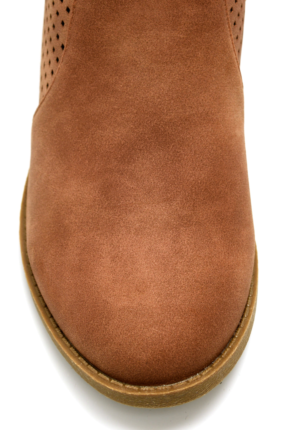 Festival Perforated Bootie - Tan