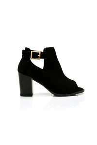 Buena Cut Out Bootie - Black