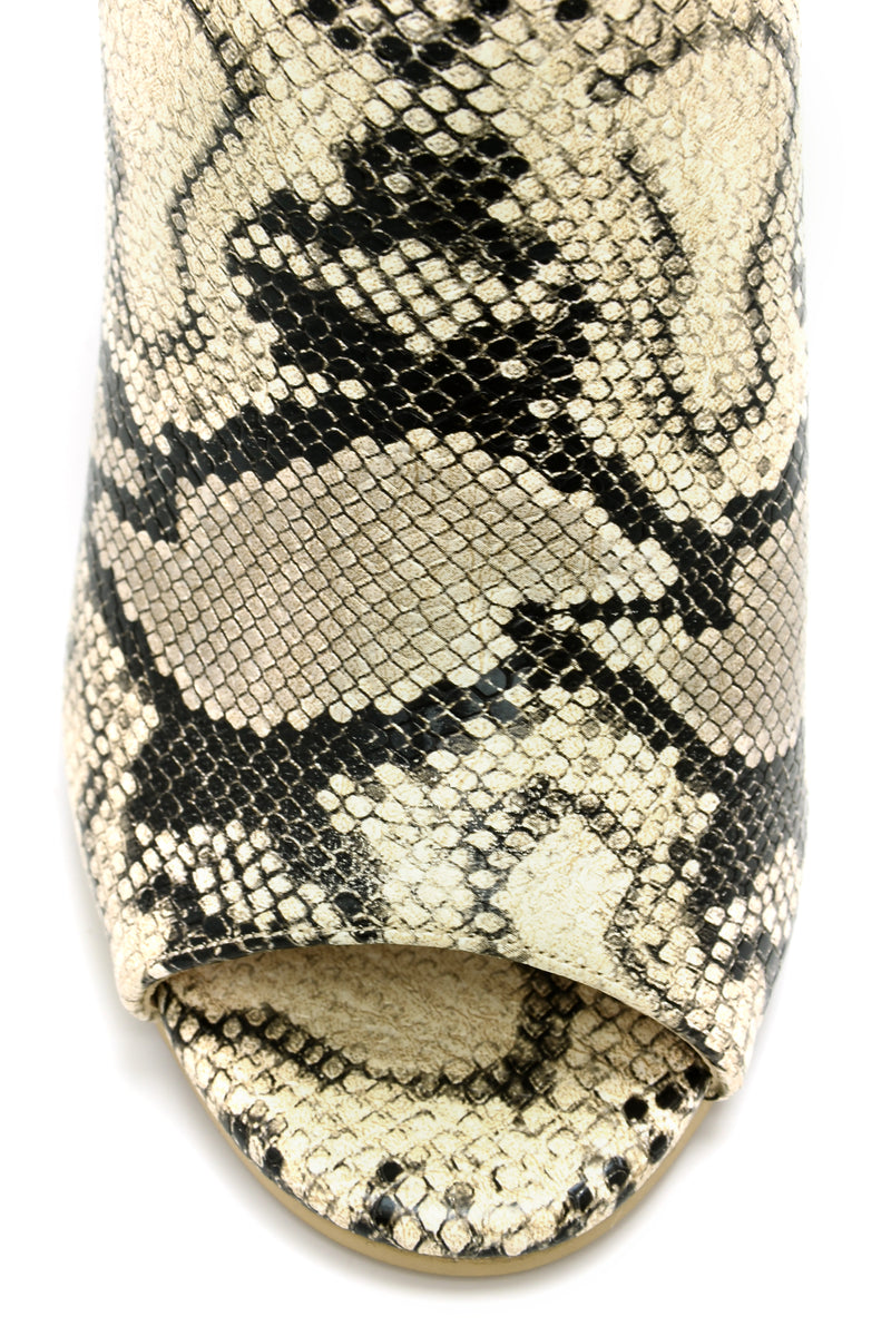 Be Better Buckle Bootie - Snake