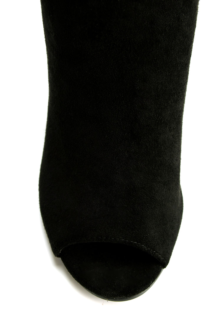 Strut And Stuff Heeled Bootie - Black