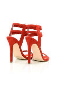 Set Fire Heeled Sandal - Red
