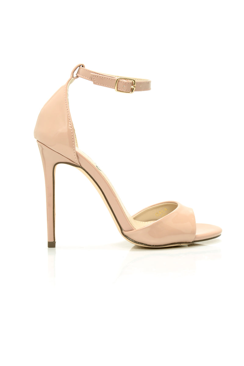 On The Up Heeled Sandal - Nude