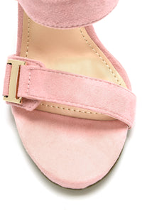Buckle Babe Heel - Blush