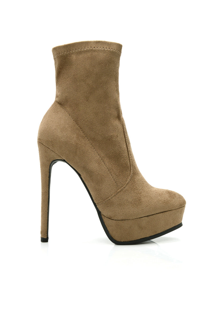 Where You Goin Bootie - Taupe