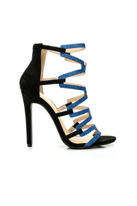 Pick You Up Heeled Sandal - Black/Blue