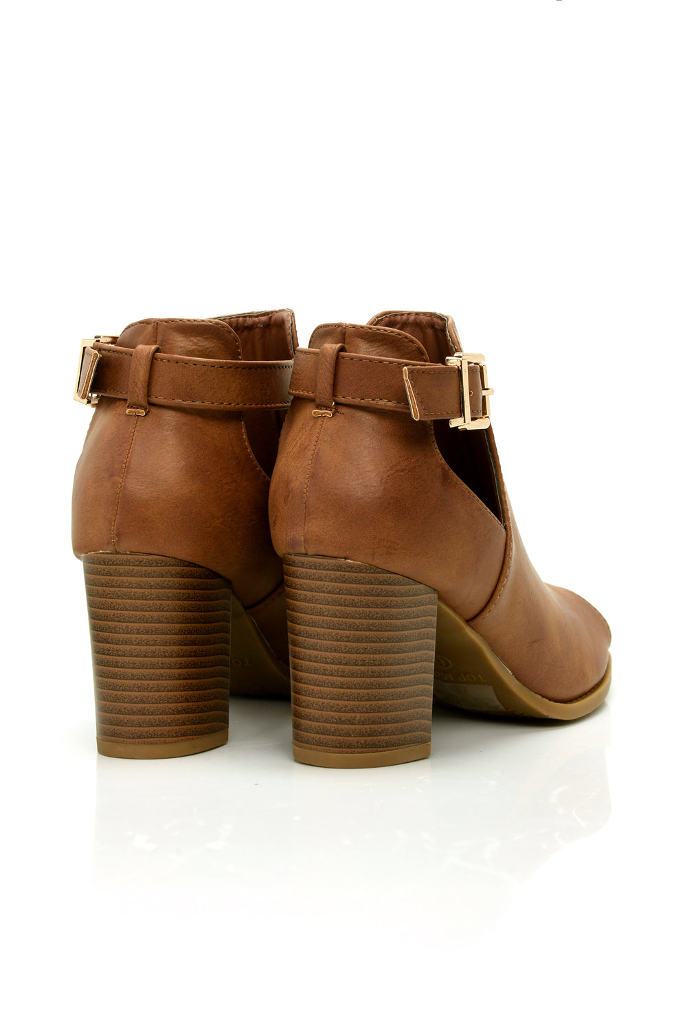 Buena Cut Out Bootie - Tan