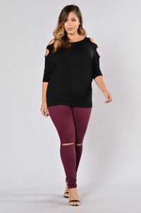 Canopy Jeans - Burgundy Angle 13
