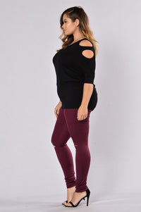 Canopy Jeans - Burgundy Angle 12