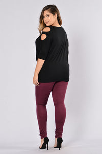 Canopy Jeans - Burgundy Angle 17