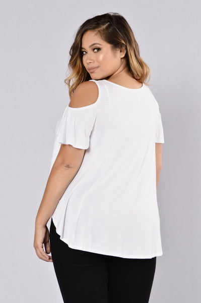 Prohibited Love Top - White