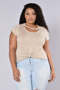Maddy Top - Oatmeal Angle 8
