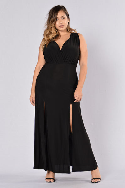 Double Up Dress - Black