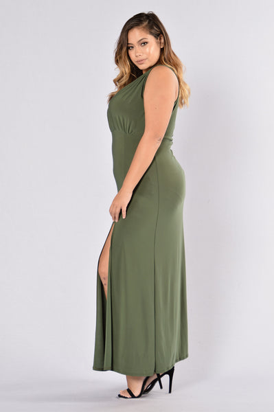 Double Up Dress - Olive