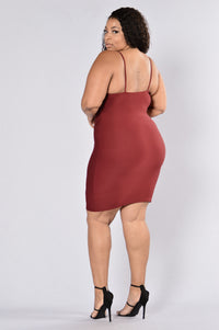 Zip Me Dress - Burgundy