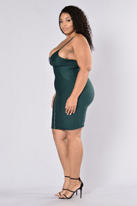 Zip Me Dress - Hunter Green