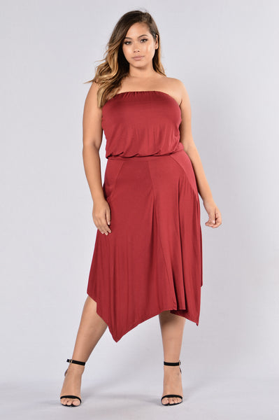 Casual Night Dress - Ruby