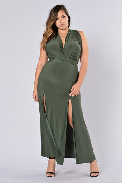 Apple Of His Eye Dress - Olive