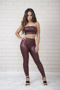 Pinot Noir Leggings - Wine