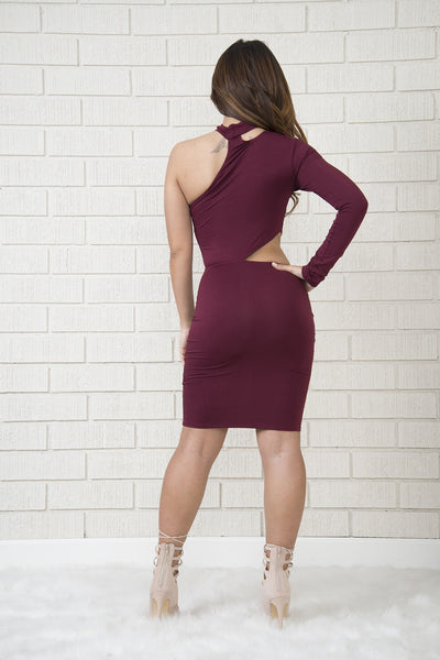 Tyra Dress - Burgundy