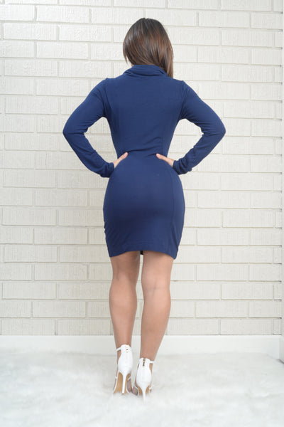 Sofia Sweater Dress - Navy