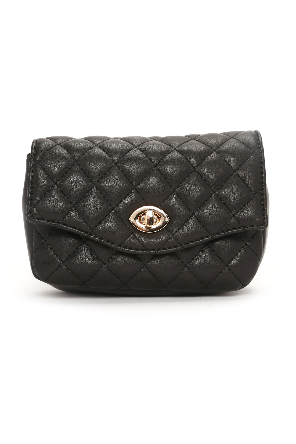 Chantelle Quilted Fanny Pack - Black