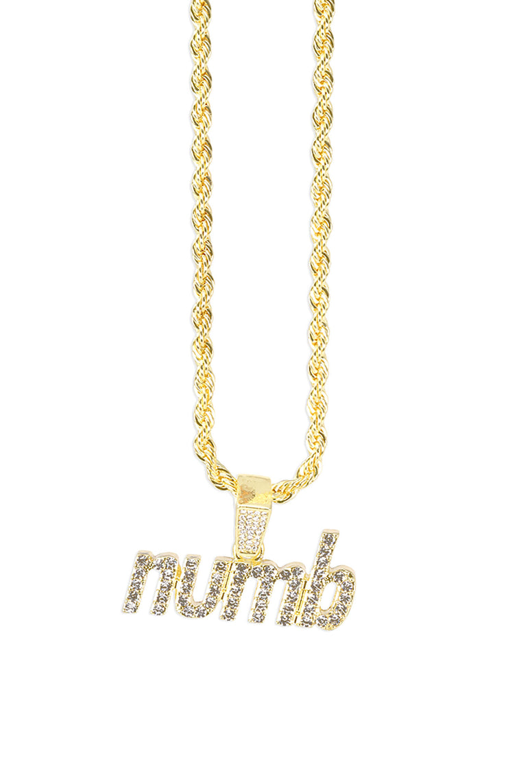 Numb Pendant Chain Necklace - Gold