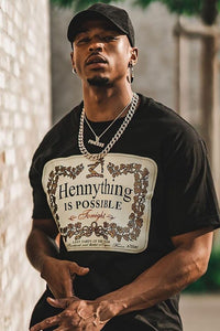 Hennything Is Possible Short Sleeve Crew Tee - Black Angle 1