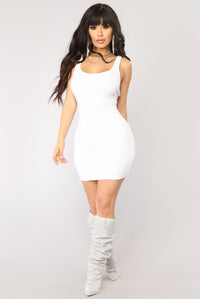 One Of The Boys Dress - White