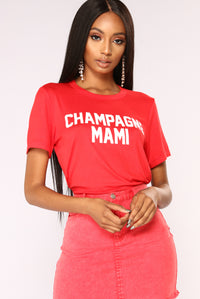 Champagne Mami Top - Red Angle 1