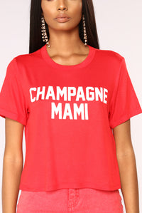 Champagne Mami Top - Red Angle 3