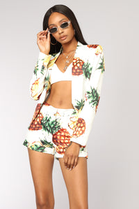 Sweet And Sour Blazer - White