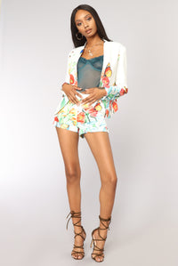 Butterfly Effect Blazer - White Angle 8