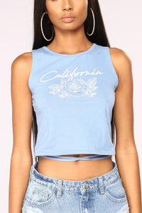 Girl From Cali Tank Top - Periwinkle
