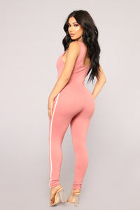 On The Go Jumpsuit - Rose