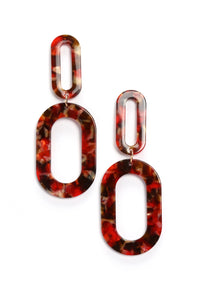 Plastique So Chic Earrings - Red