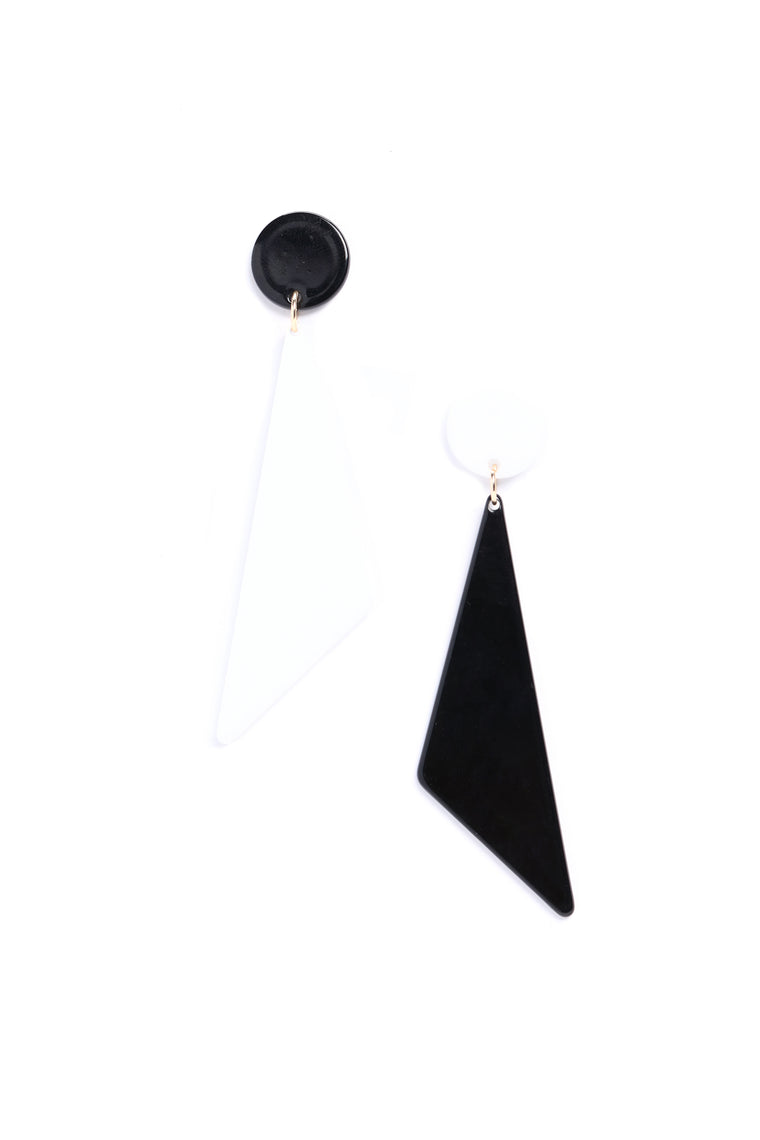 Look At Me Different Earrings - Black/White