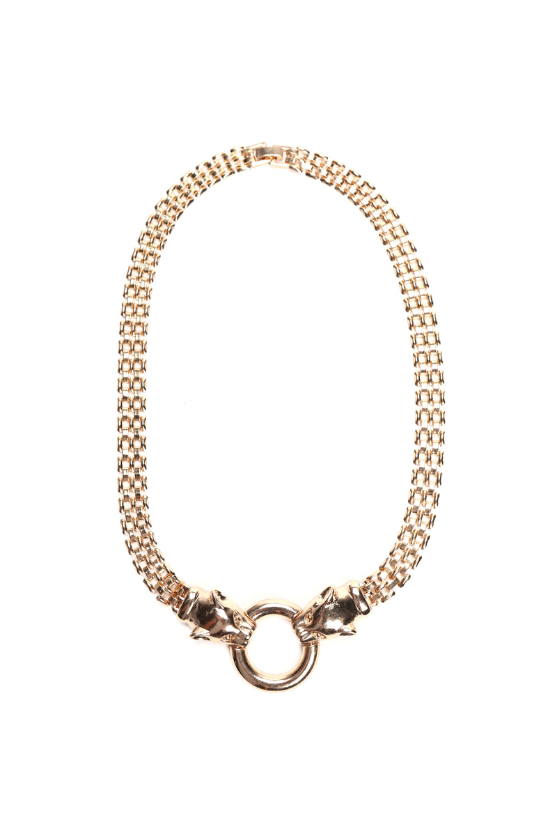 Growl's Night Out Necklace - Gold