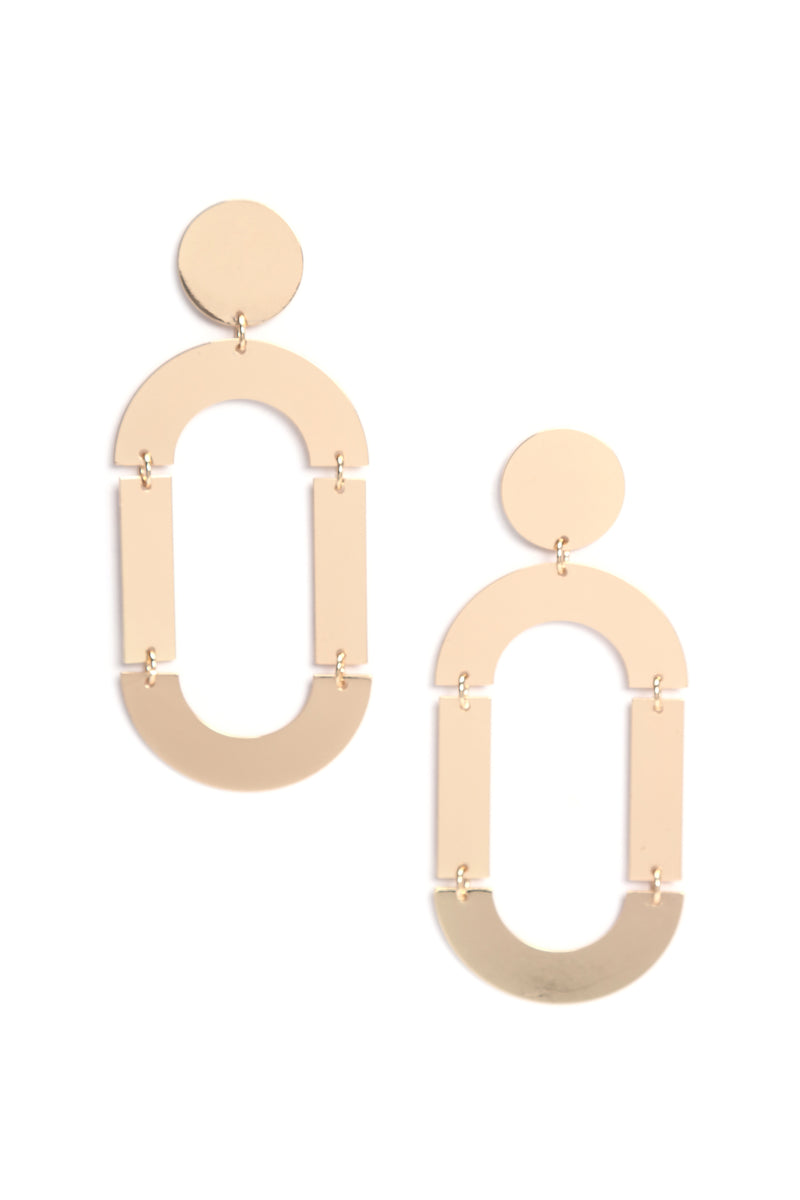Too Much On Your Plate Earrings - Gold