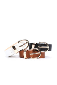 Triple Threat Belt Set - Black/White