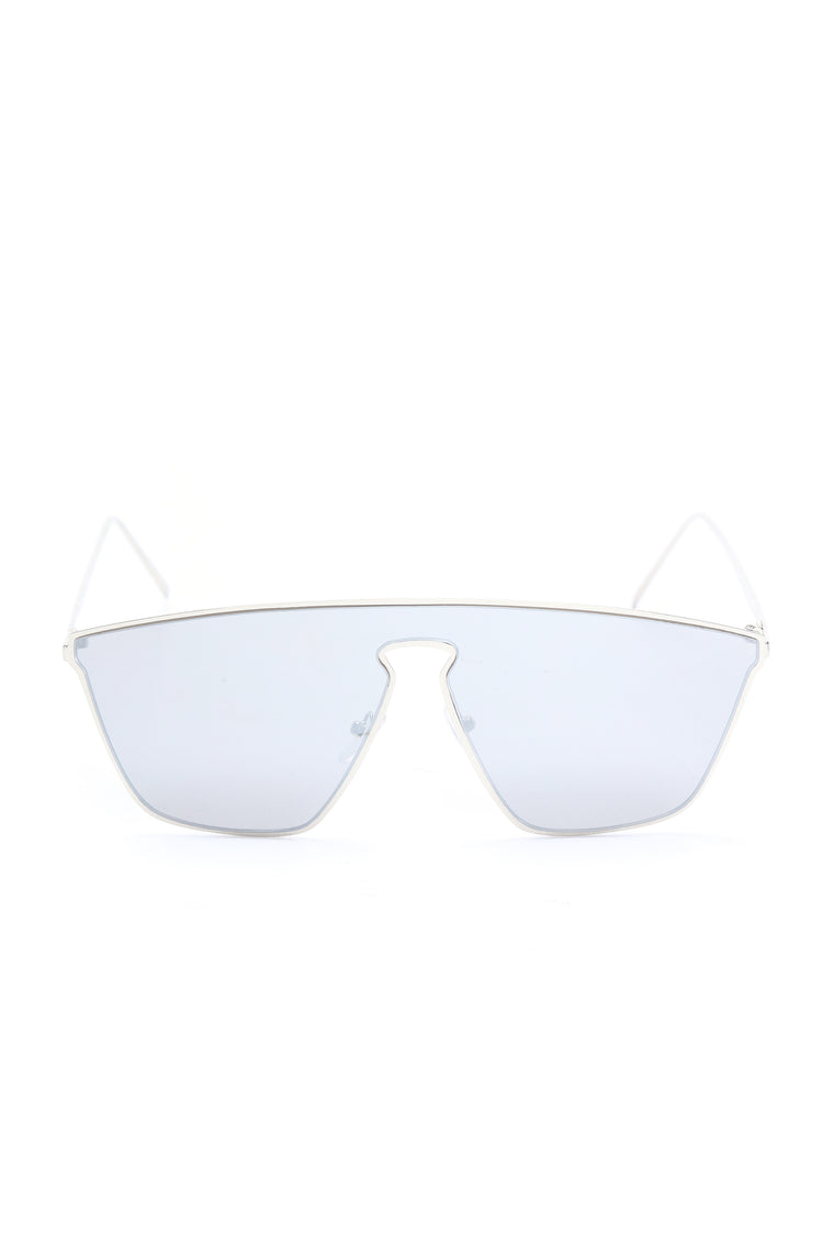 Two Way Mirror Sunglasses - Silver