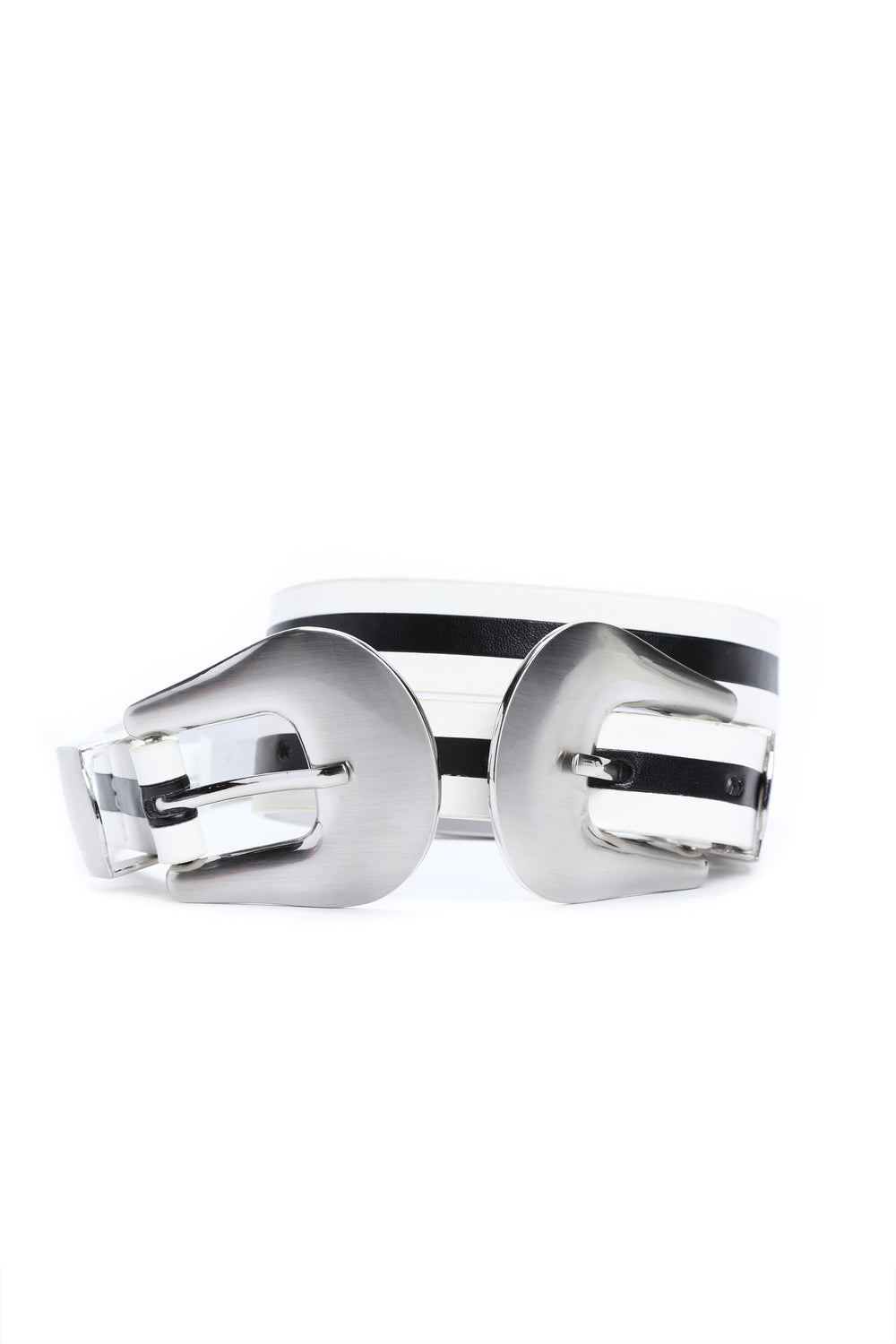 Trouble Make It Double Belt - Black/White