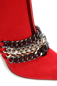 Don't Miss A Link Bootie - Red