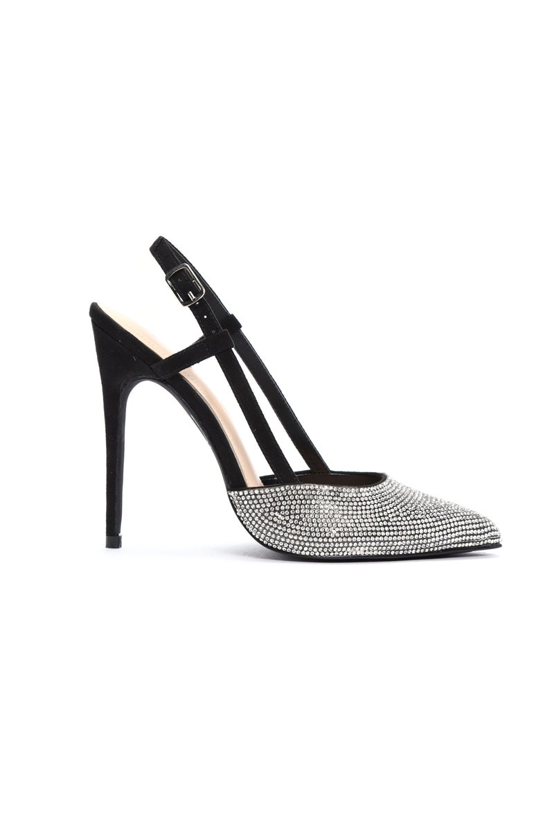 I Know What I Am Pumps - Black/Silver