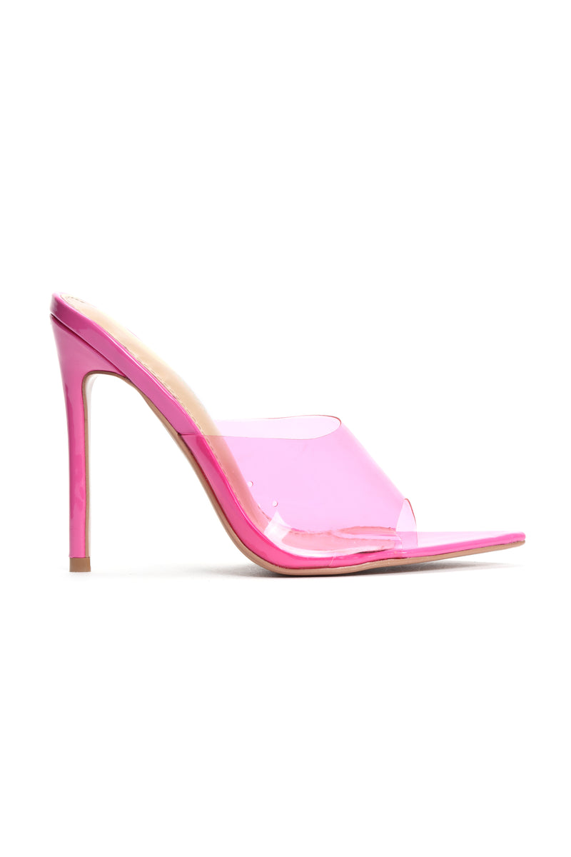 Those Are Fire Heeled Sandals - Pink