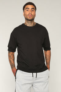 Solch Short Sleeve Crew Top - Black