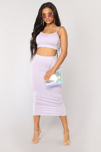 No Manners Skirt Set - Lavender Angle 1