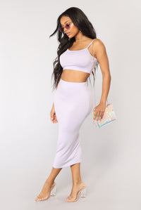 No Manners Skirt Set - Lavender Angle 3