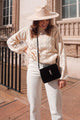 Kat Pointelle Crewneck Sweater - Ivory
