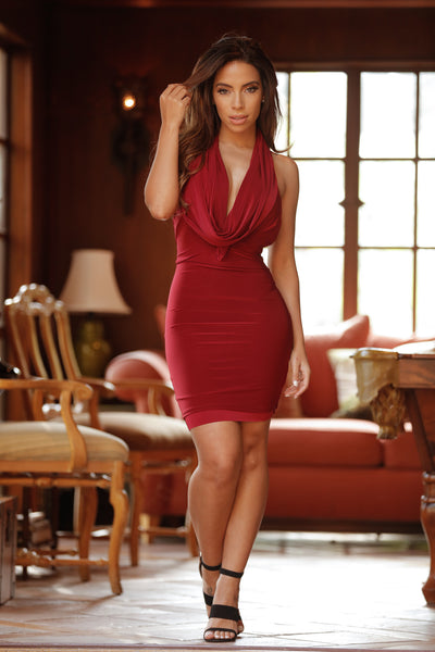 Kaya Dress - Burgundy